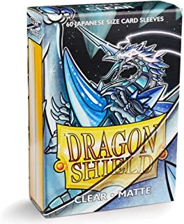 Dragon Shield Matte Mini Japanese Clear 60 ct Card Sleeves Individual Pack