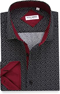 mens maroon polka dot shirt