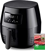 Phyismor Air Fryer, 5.3 Qt Touch Screen Hot Electric Digital Air fryer Oven Oilless Cooker with 6 Cooking Preset, 50 Cookbook Recipe, Detachable Nonstick Basket, 1400w …
