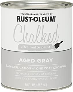 light grey chalk paint with dark wax