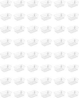 Sterilite 16088048 Storage Basket, White, 48-Pack