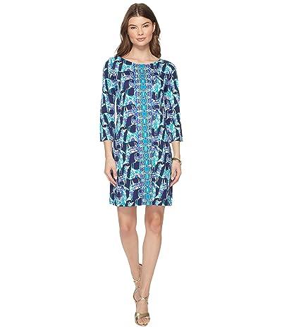 Lilly Pulitzer Bay Dress (Bright Navy Alpaca My Bags Engineered Dress) Women