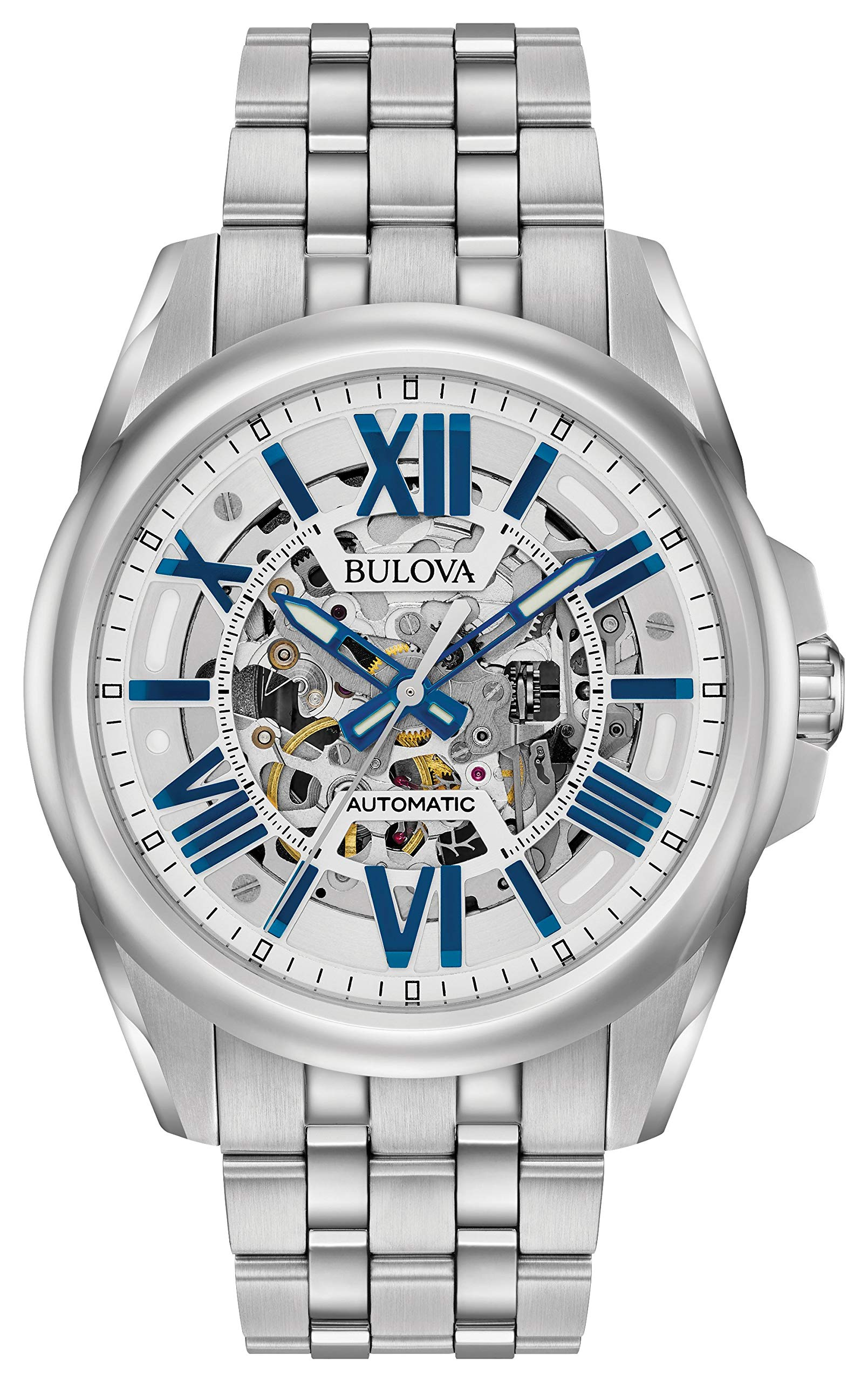 Bulova Mechanical Hand Wind Watch Stainless Steel Silver