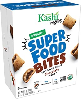Kashi by Kids, Super Food Chocolate Bites, Soft Baked Organic Snacks, Fair Trade Cocoa, Peanut Free, 5.6oz