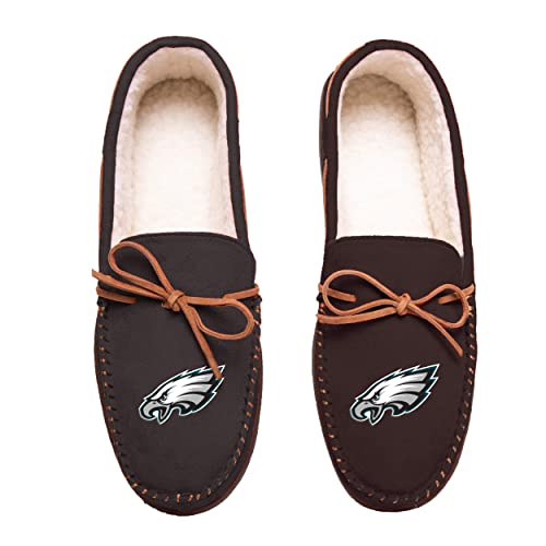 cde71fc50fb4f6 FOCO Football Mens Team Color Big Logo Moccasin Slippers Shoe - Pick Team