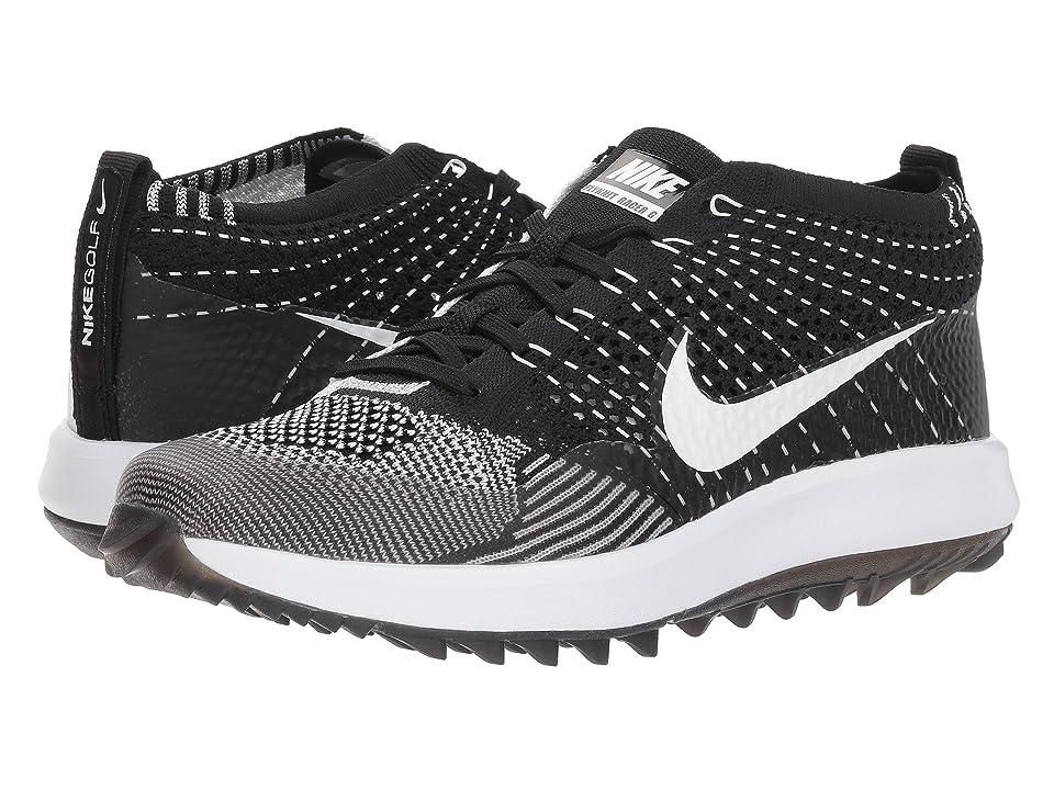 Nike Golf Flyknit Racer G (Black/White) Women