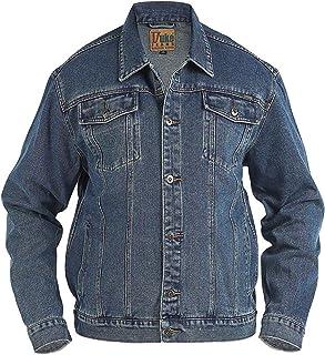 Big King Size Mens Duke London Denim Trucker Stonewash Jacket