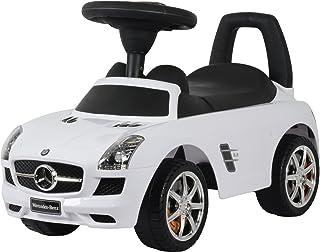 Dorsa Premium Quality Ride On Cars Mercedes Benz SLS AMG Push Car, White, 332-MWHITE