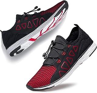 أحذية YHOON المائية للرجال - أحذية رياضية مائية خفيفة الوزن وسريعة الجفاف