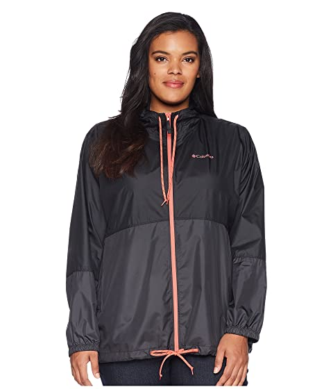 Columbia Plus Size Flash Forward™ Windbreaker, BLACK/SHARK/BLUSH PINK