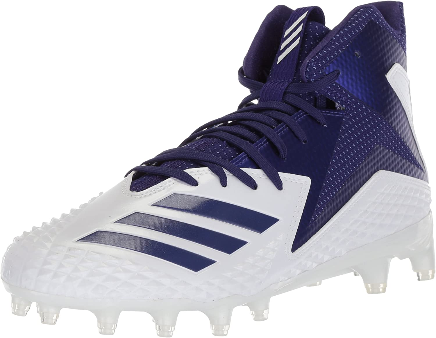 Adidas Men's Freak X Carbon Mid Football shoes, White Collegiate Purple, 12.5 M US