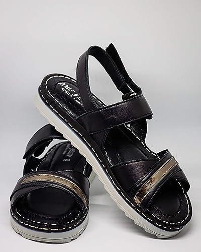 Sandales en en Cuir fabriquées à la Main.  en soldes