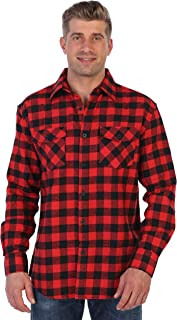 Gioberti Men's Plaid Checkered Brushed Flannel Shirt
