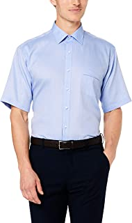 Van Heusen Men's Classic Relaxed Fit Short Sleeve Shirt Herrigbone