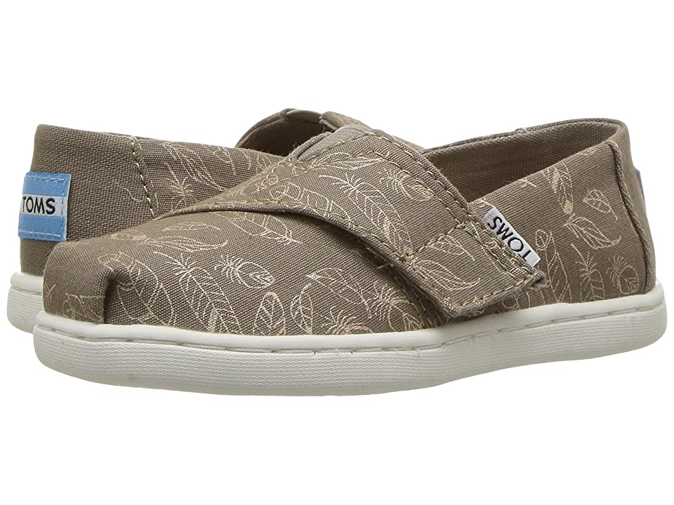TOMS Kids Alpargata (Infant/Toddler/Little Kid) (Desert Taupe Foil Feathers) Girl