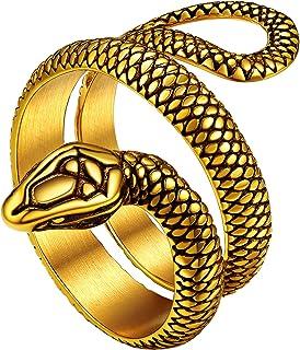 Gifts for Her 18k Gold Filled Snake Adjustable Ring Bernardita Ring