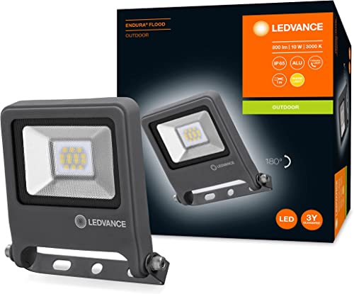 LEDVANCE Projecteur à LED, luminaire pour applications extérieures, blanc chaud, 125,0 mm x 101,0 mm x 29,0 mm, ENDUR...