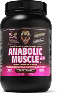 Healthy 'N Fit Anabolic Muscle (Chocolate) 3.5 lb - Weight Gainer and Natural Muscle Mass and Strength Gainer