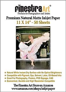 "11"" X 14"" Natural Matte Inkjet Photo Paper - 50 Sheets"