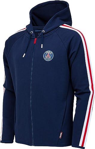 PARIS SAINT-GERMAIN Veste Sweat zippé à Capuche PSG - Collection Officielle Taille Enfant