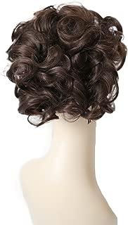 PRETTYSHOP Moño, Postizo, Trenza, Moño de estilo Hepburn, Coletero, Peinado alto marrón # 10 HK106