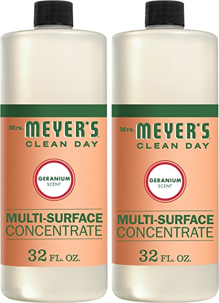 Mrs Meyer S Clean Day Multi Surface Concentrate Geranium 32 Fl Oz 2 Ct
