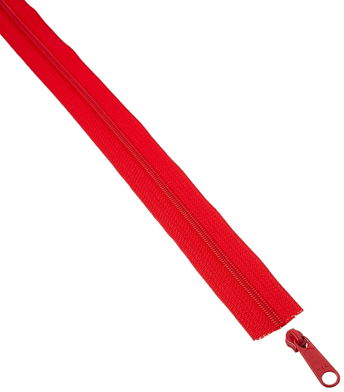 Decorating Diva 3 Yards of Reversible Coil Zipper Tape with 8 Slides Red, 3 yd,