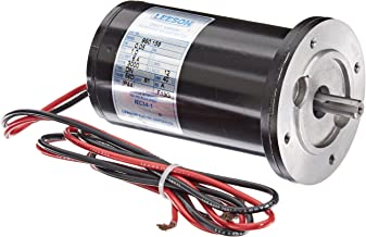Leeson 980.159 Low Voltage Commercial DC Metric Motor, 56D Frame, B14 Mounting, 1/15HP, 3000 RPM, 12V Voltage