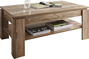 Maisonnerie Montreal 1100-112-60 Low Table Walnut with Satin Finish 110 x 65 x 47 cm