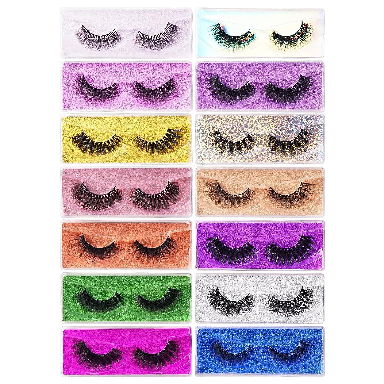 14 Pairs Styles False Eyelashes Lashes Mink El Paso Mall Regular store Faux 3D Natural