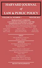 Harvard Journal of Law & Public Policy, Volume 36, Issue 1 (Pages 1 - 402)