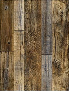 HaokHome 92048-2 Peel and Stick Wood Plank Wallpaper Shiplap 17.7