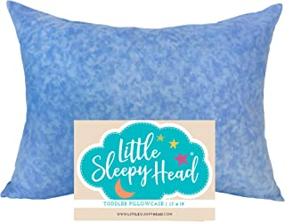 Little Sleepy Head Toddler Pillowcase - Blue Marble, 13 x 18 Inch
