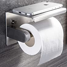 ZUNTO Toiletrolhouder met Plank Toiletpapierhouder Zelfklevende Papierhouder RVS Klorollenhouder Wandmontage