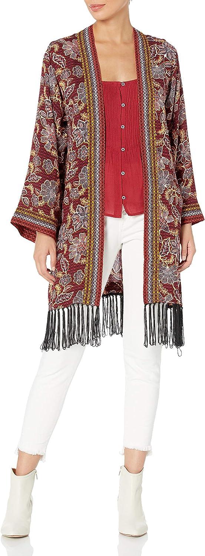 Jessica Simpson Women's Bea Elegant Fringed Kimono