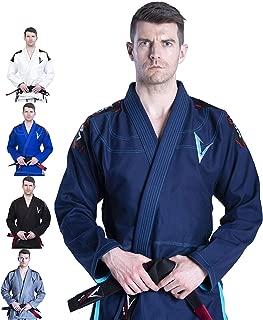 Vector Brazilian Jiu Jitsu BJJ Gi Kimono with Free White Belt Lightweight Preshrunk Pearl Weave 100% Cotton Fabric Attila Series