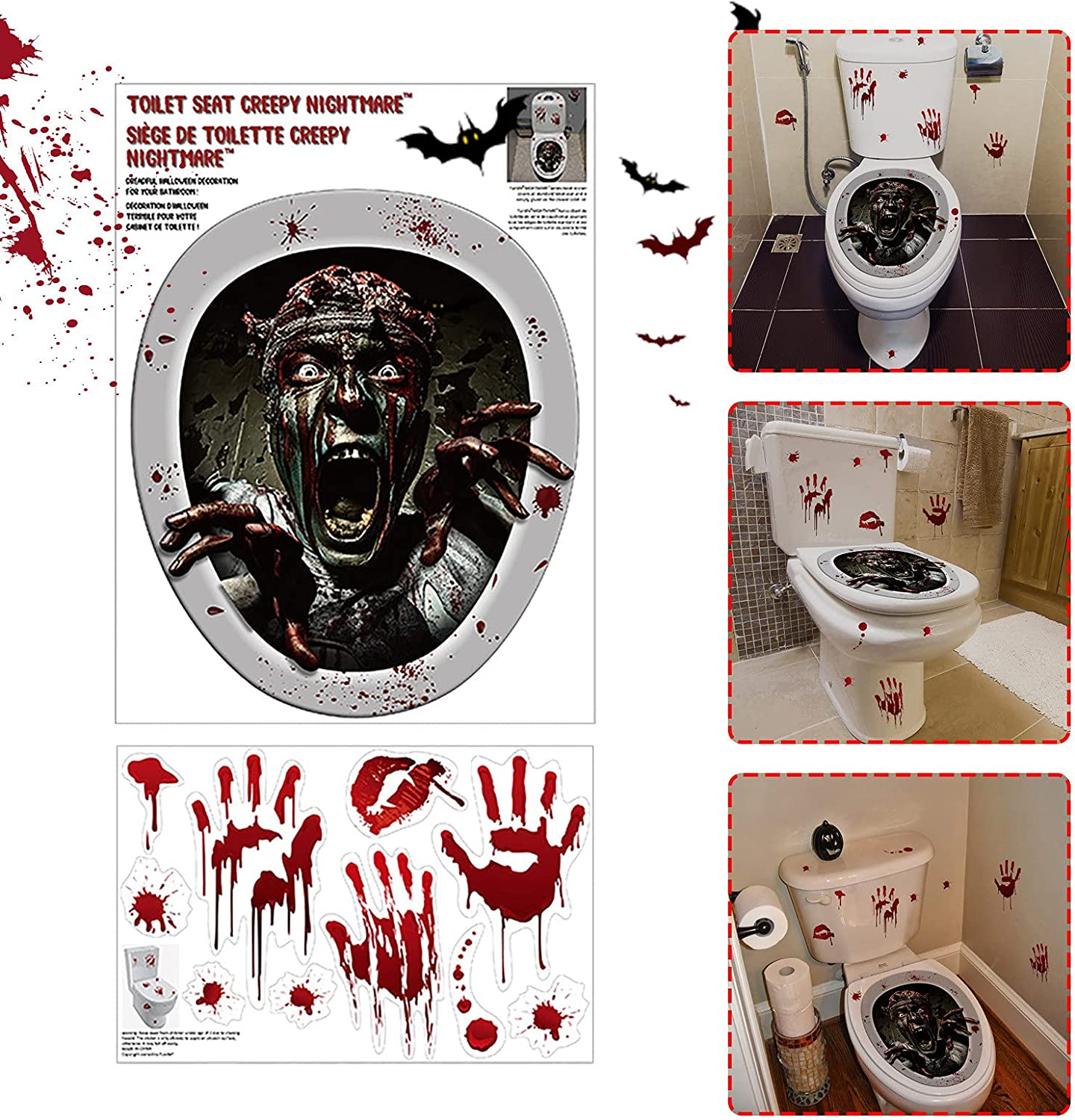 ZSWWang Halloween 3D New arrival Wall Stickers Window Floor Decals Animer and price revision Ceiling