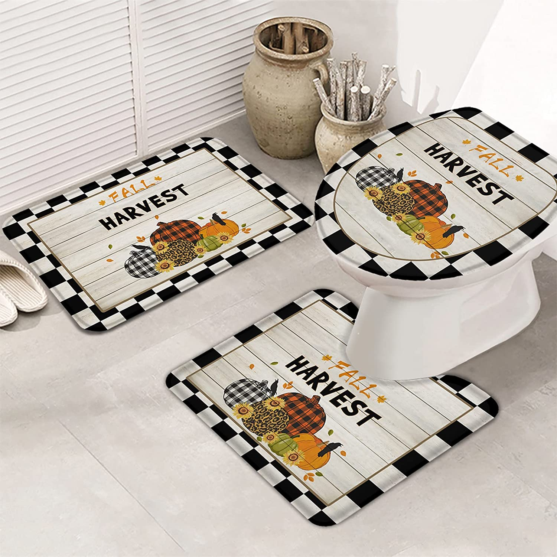 MuswannaA 3 Piece Bathroom Rugs Max 84% OFF Set Bath Soft Non Slip OFFer Rug Ultra