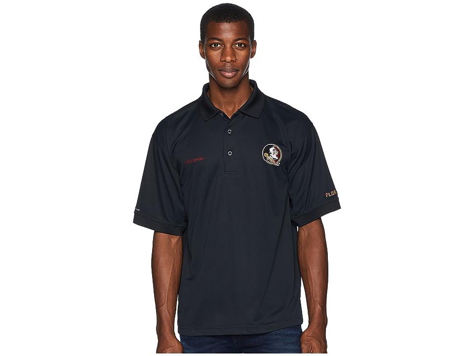 Columbia Collegiate Perfect Casttm Polo Top (Florida State/Black) Men