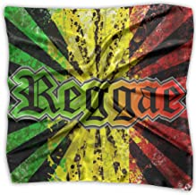 XUJ YOGA Lady Ideal Gift - Silk Scarf Womens Square Satin Headscarf Neck Hair Scarf Fashion Reggae Jamaican Music Tie Dye Large Lightweight Soft Kerchief