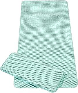 Clevamama Clevamama Full Length Bath Mat with Kneeling Cushion (Aqua), 662 Grams, Blue (7403)