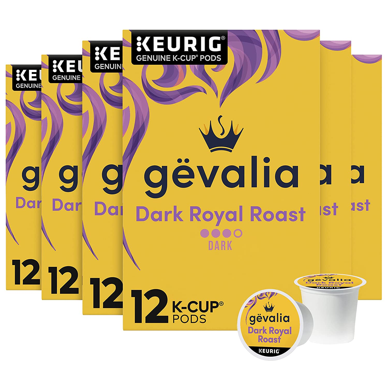 Gevalia Dark Royal Roast K-Cup Virginia Beach Mall Coffee 72 Product Boxes 6 of Pods