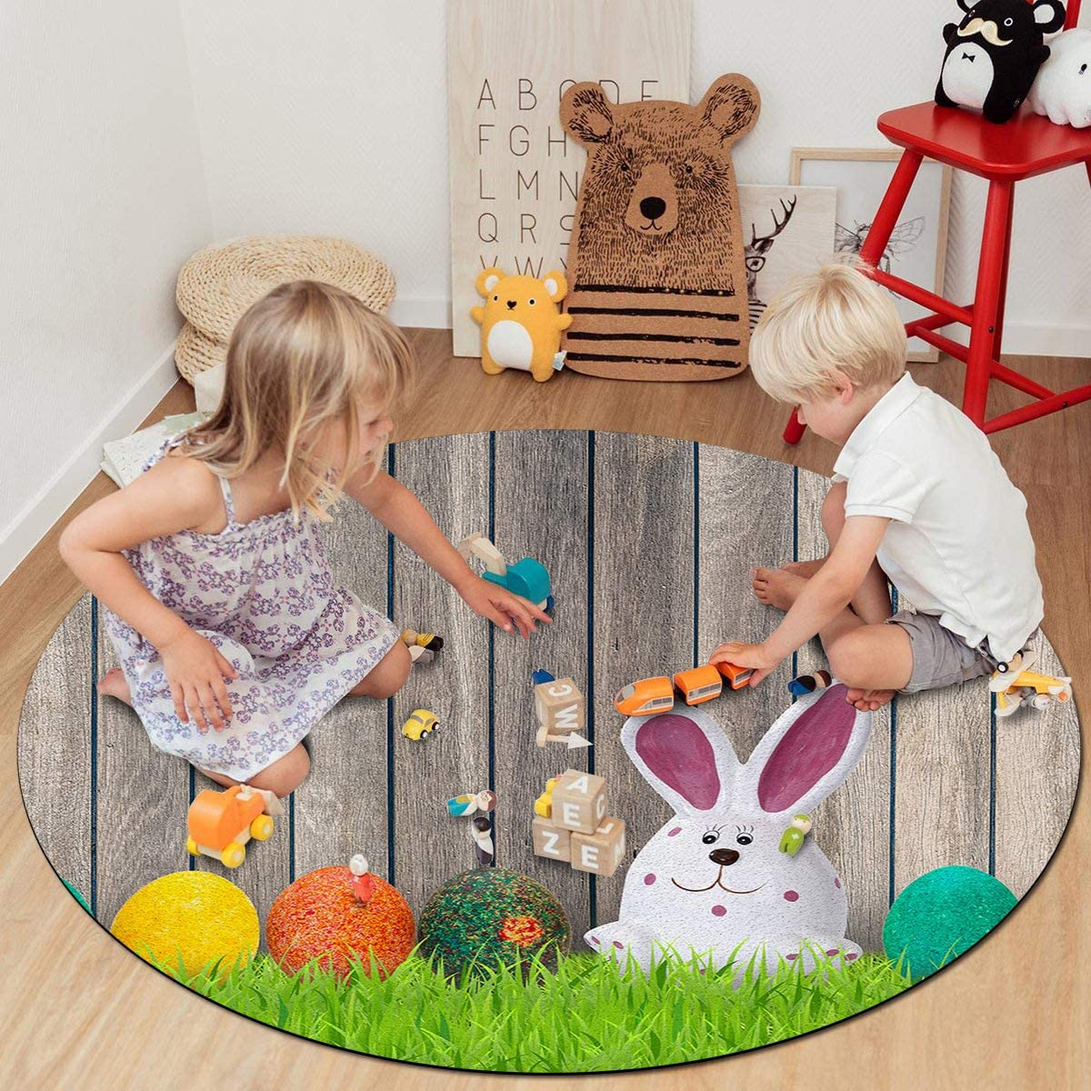 supreme Soft Round Area Rugs for Princess Prince D Play Max 56% OFF Castle 4 ft Tent