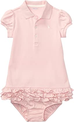Ralph Lauren Baby Interlock Cupcake Dress (Infant)