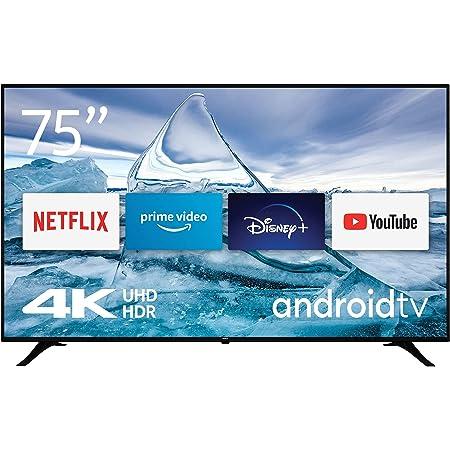 Nokia Smart TV 7500A Téléviseur LED de 75″ (189 cm) 4K UHD, Dolby Vision, HDR10, Assistant Vocal, Triple Syntoniseur - DVB-C/S2/T2 - Android TV