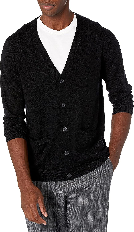 Goodthreads Men's Lightweight Merino Cardigan Weekly update Sale Special Price Wool Sweater
