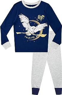 HARRY POTTER Pijamas de Manga Larga para niñas Hedwig Ajuste Ceñido