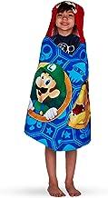 "Franco Kids Bath and Beach Soft Cotton Terry Hooded Towel Wrap, 24"" x 50"", Super Mario"