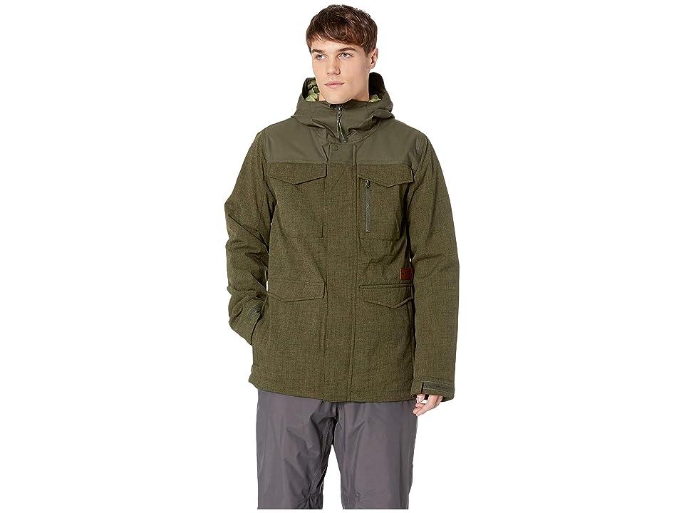 Burton Covert Jacket (Forest Night Heather/Forest Night) Men