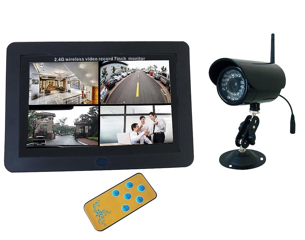香港同盟私達【ワイヤレス】7インチLCD付SDカード録画機+屋外赤外線カメラ*1台